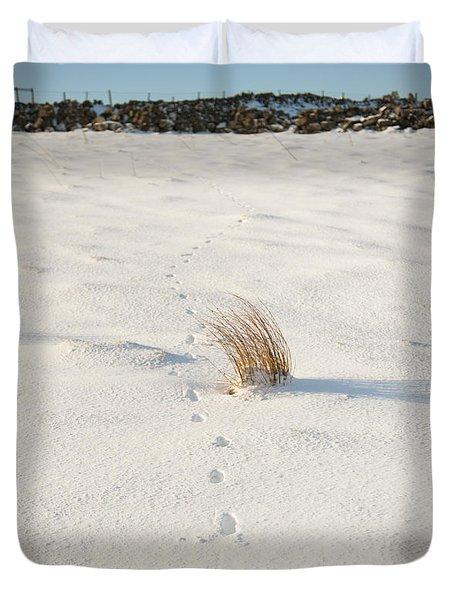 Footprints In The Snow II Duvet Cover
