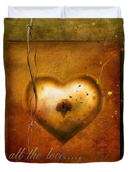 For All The Love Duvet Cover by Jacky Gerritsen