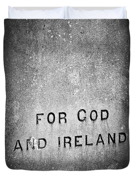For God And Ireland Macroom Ireland Duvet Cover by Teresa Mucha