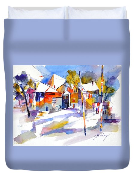 For Love Of Winter #2 Duvet Cover by Betty M M Wong