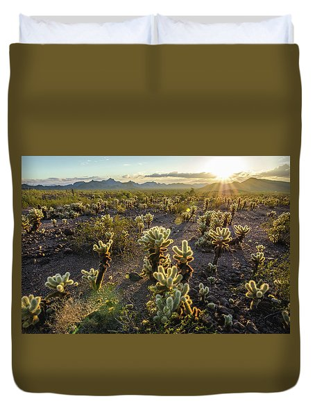 Sea Of Cholla Duvet Cover