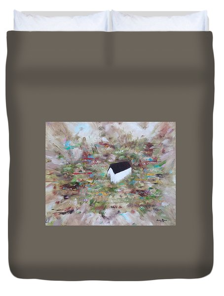 Duvet Cover featuring the painting For Sheila by Judith Rhue