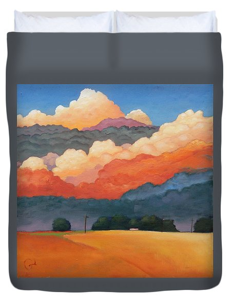 For The Love Of Clouds Duvet Cover by Gary Coleman