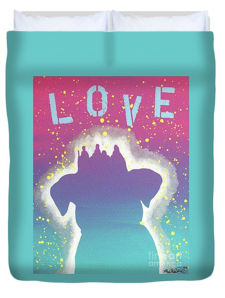 For The Love Of Pups Duvet Cover by Melissa Goodrich