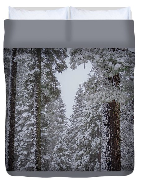 For The Love Of Snow Duvet Cover