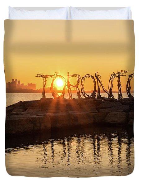 For The Love Of Toronto Duvet Cover