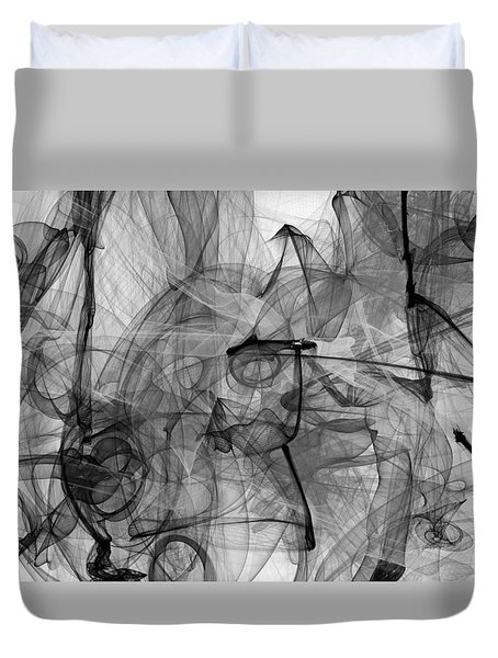 For You I Would Do Anything - We Smoke All Night - The Phone Call Of Pure Bliss  Duvet Cover