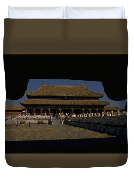 Forbidden City, Beijing Duvet Cover