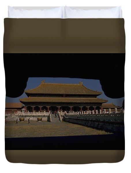 Forbidden City, Beijing Duvet Cover