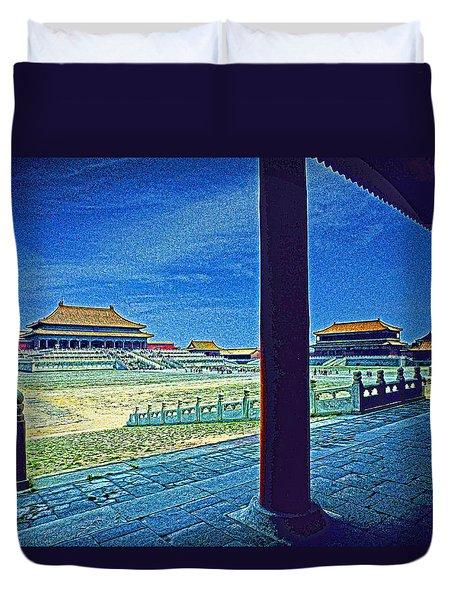 Forbidden City Porch Duvet Cover by Dennis Cox ChinaStock