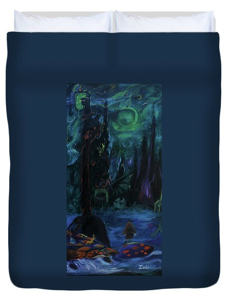 Forbidden Forest Duvet Cover by Christophe Ennis