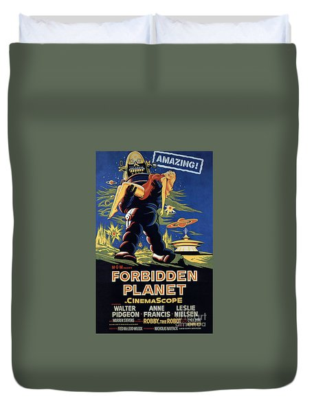 Forbidden Planet Amazing Poster Duvet Cover