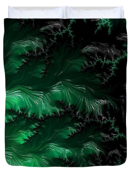 Forbidding Haunted Forest Duvet Cover