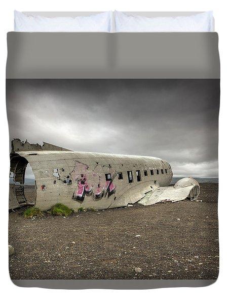 Forced Landing Duvet Cover