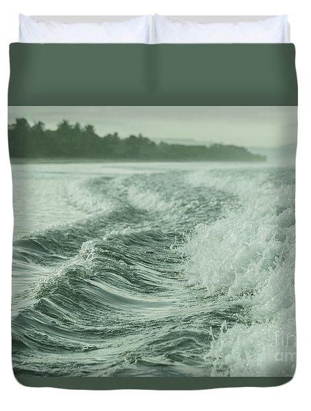 Forces Of The Ocean Duvet Cover by Iris Greenwell