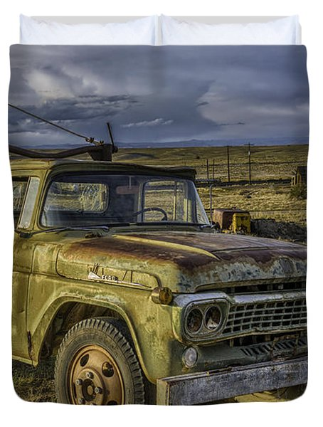 Ford 1958 - F-series Pickup  Duvet Cover