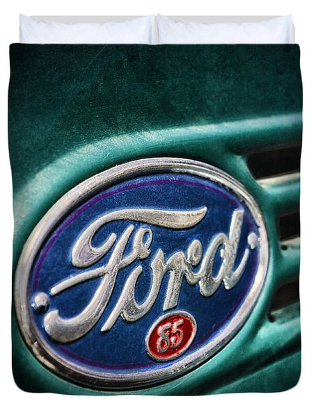 Duvet Cover featuring the photograph Ford 85 by Caitlyn Grasso