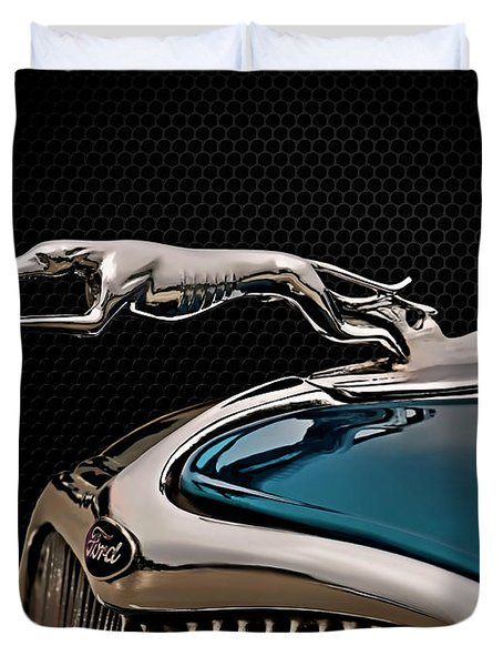 Ford Blue Dog Duvet Cover