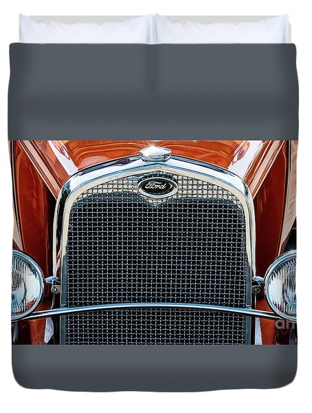 Duvet Cover featuring the photograph Ford Coupe by Brad Allen Fine Art