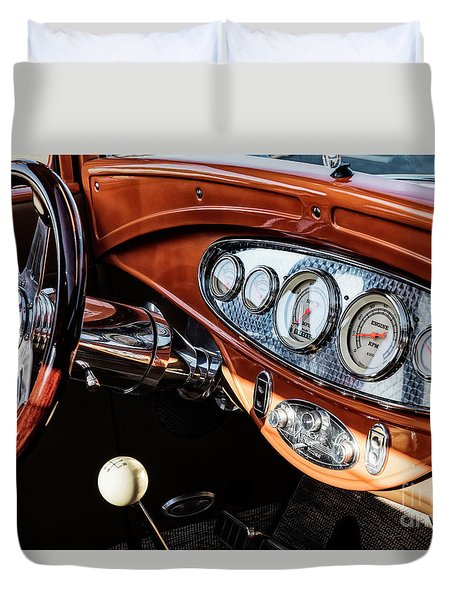 Duvet Cover featuring the photograph Ford Coupe IIi by Brad Allen Fine Art