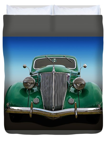 Duvet Cover featuring the photograph Ford Coupe by Keith Hawley