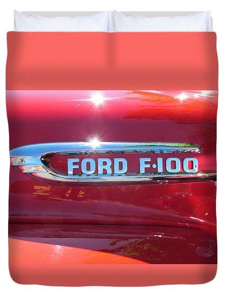 Ford F-100 Logo Duvet Cover