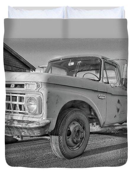 Ford F-150 Dump Truck Bw Duvet Cover