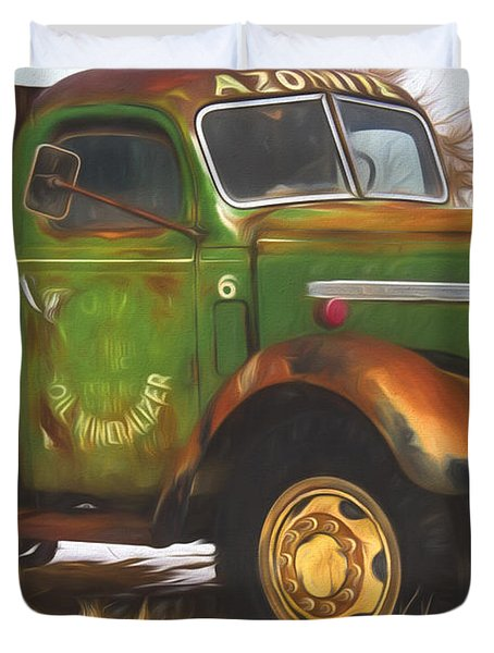 Ford Farm Truck Painterly Impressions Duvet Cover