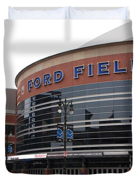 Ford Field Duvet Cover