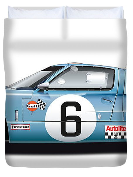 Ford Gt 40 1969 Duvet Cover