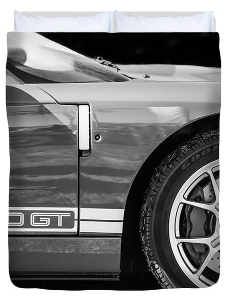 Ford Gt Side Emblem Wheel Ckbw Duvet Cover