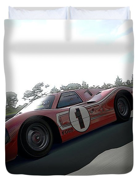 Ford Gt40 Mark Iv Duvet Cover
