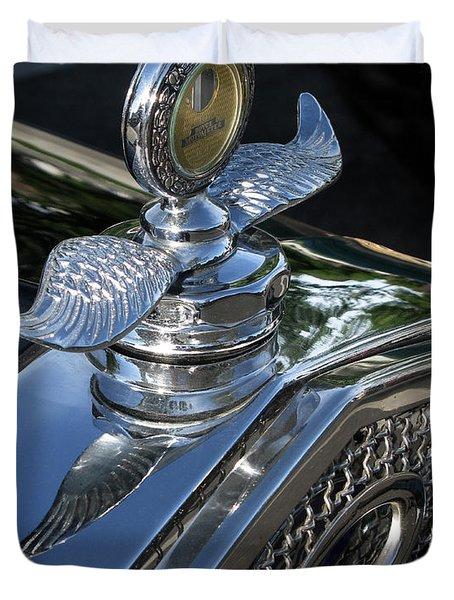 Ford Hood Emblem Duvet Cover by Peter Piatt