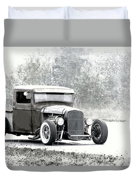 Ford Hot Rod Duvet Cover by Athena Mckinzie