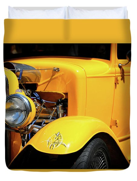Duvet Cover featuring the photograph Ford Hot-rod by Jeremy Lavender Photography
