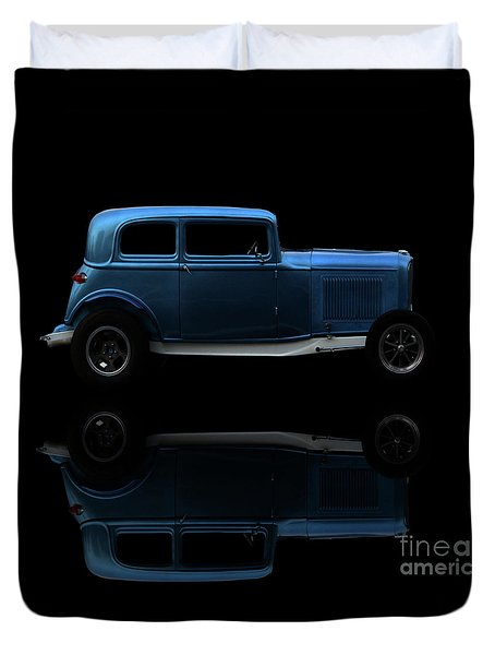 Ford Hot Rod Reflection Duvet Cover
