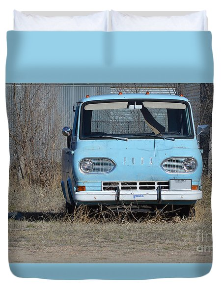 Ford Light Blue Duvet Cover by Renie Rutten