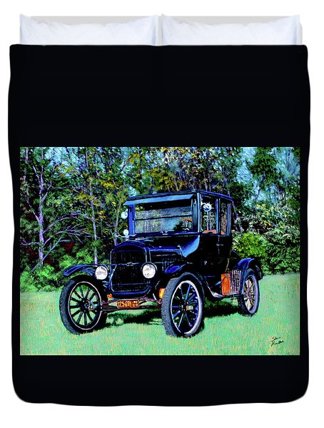 Ford Model T Duvet Cover by Stan Hamilton