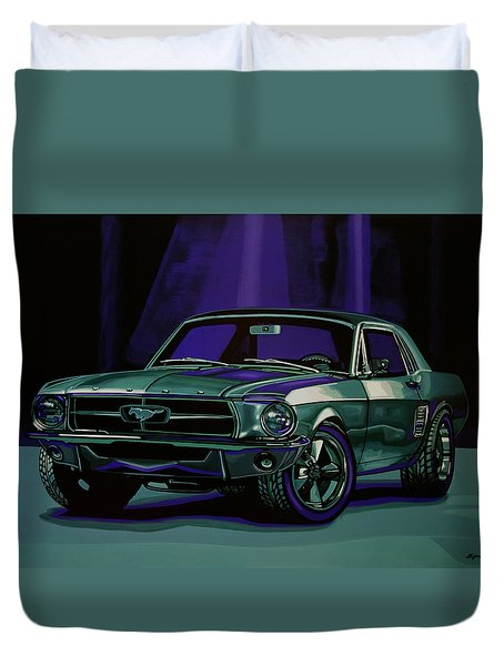 Ford Mustang 1967 Painting Duvet Cover