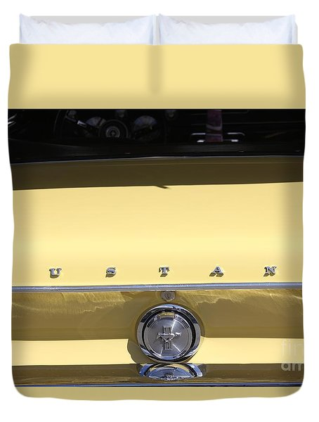 Duvet Cover featuring the photograph Ford Mustang Vintage by The Art of Alice Terrill