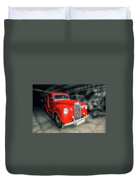 Duvet Cover featuring the photograph Ford Prefect by Charuhas Images