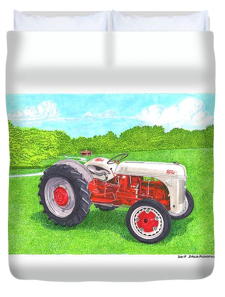 Ford Tractor 1941 Duvet Cover by Jack Pumphrey