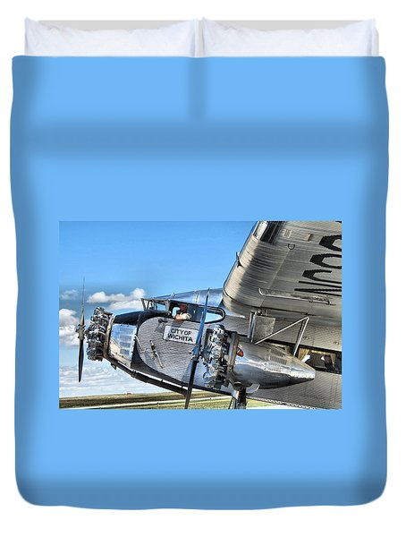 Ford Trimotor Duvet Cover by Michael Daniels