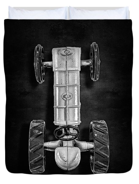 Fordson Tractor Top Bw Duvet Cover by YoPedro