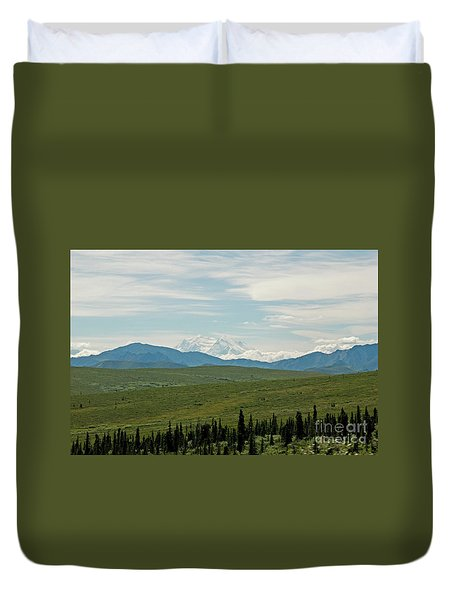Foreground And Mountain Duvet Cover