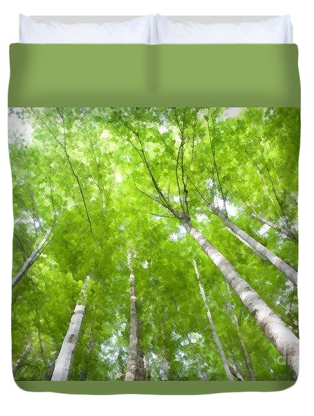 Duvet Cover featuring the photograph Forest 1 by Jean Bernard Roussilhe