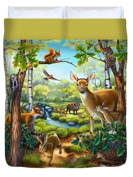 Forest Animals Duvet Cover