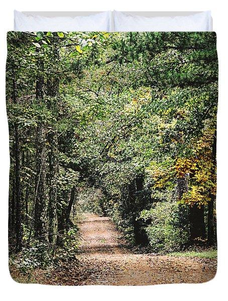 Forest Back Road Duvet Cover