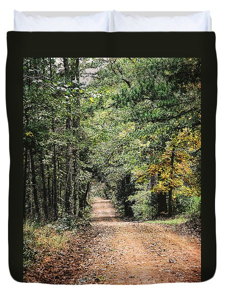Forest Back Road Duvet Cover