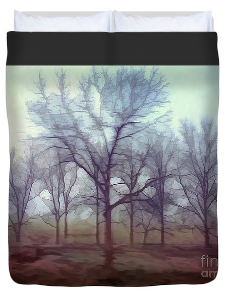 Duvet Cover featuring the photograph Forest Ballet by Kerri Farley
